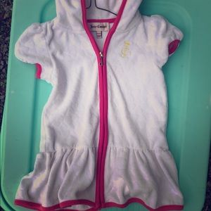 Juicy Couture swim cover up hooded full zipper